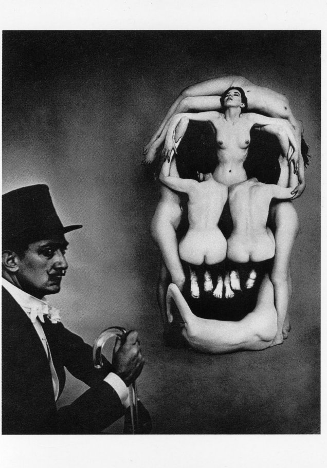 philippe halsman – « crâne et dali »  – 1951