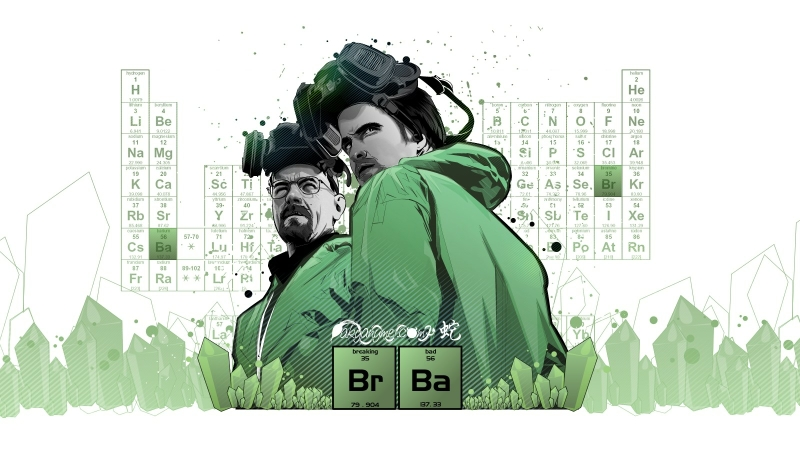 vector periodic table breaking bad artwork walter white jesse pinkman tv shows paint splatter 160_www.wallpaperhi.com_76